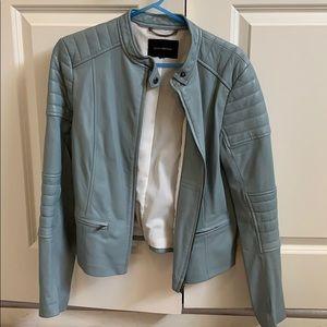 Beautiful mint green leather jacket